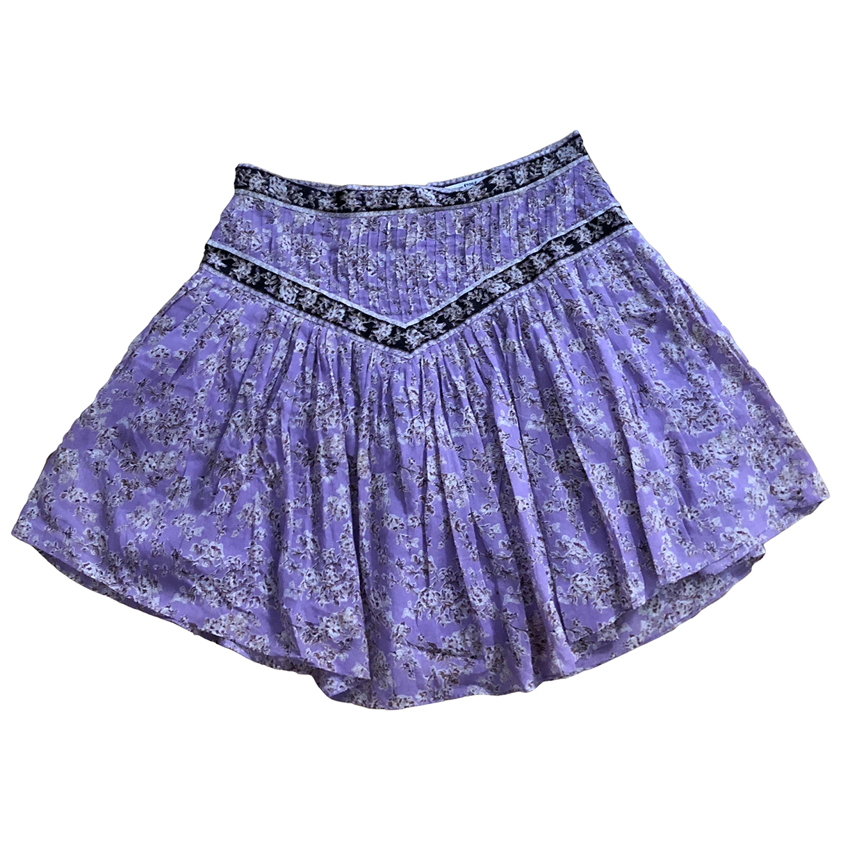 Isabel Marant Etoile \N Purple Cotton skirt for Women 40 FR