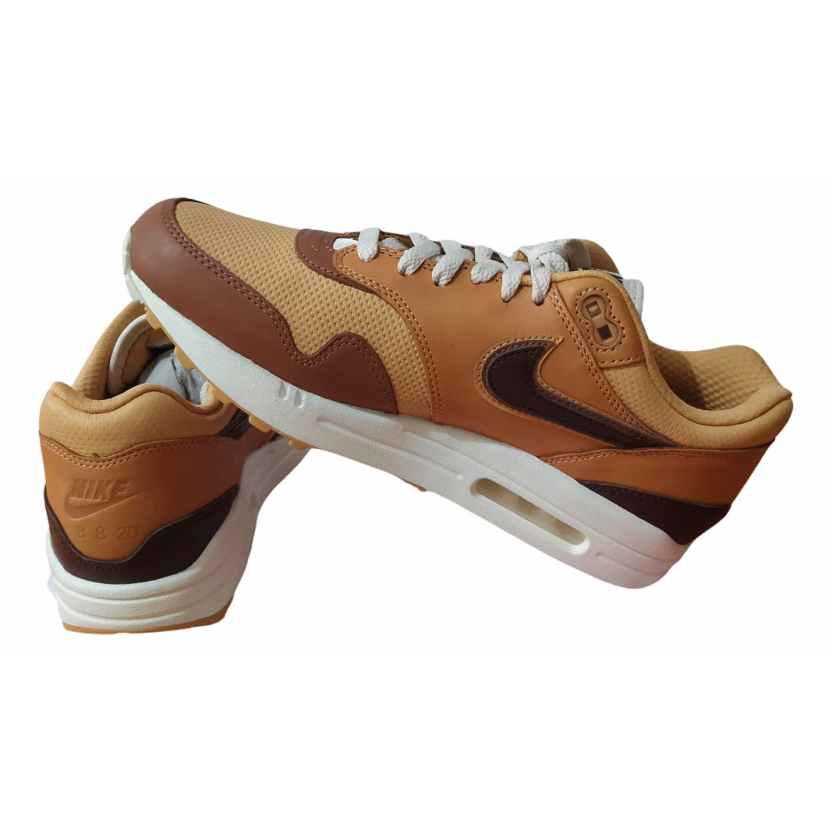 Nike Air Max 1 Brown Leather Trainers for Men 42 EU