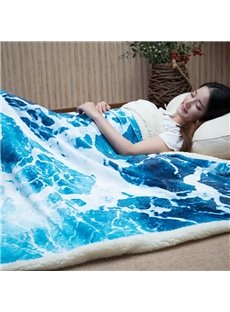 Imitation Sea Creative 3D Blanket Flannel Blankets Thicken Air Conditioning Blankets