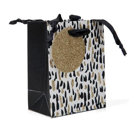 Gift Bag Present Bag Confetti Glitter Small Size 5.5*4.25*2.5in, 1Pc