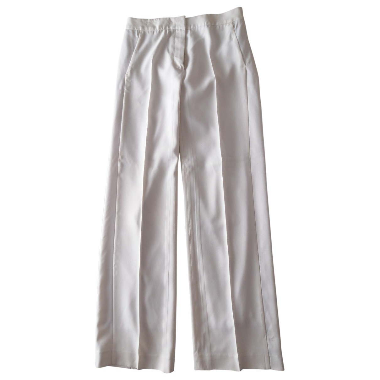 Karl Lagerfeld \N White Trousers for Women 42 IT