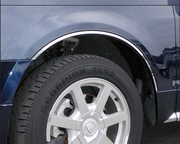Quality Automotive Accessories 4-Piece Stainless Steel Wheel Well Fender Trim Kit Cadillac SRX 2009