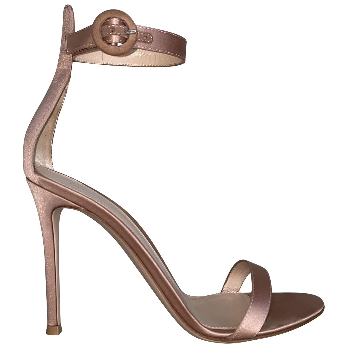 Gianvito Rossi \N Pink Cloth Sandals for Women 37.5 EU