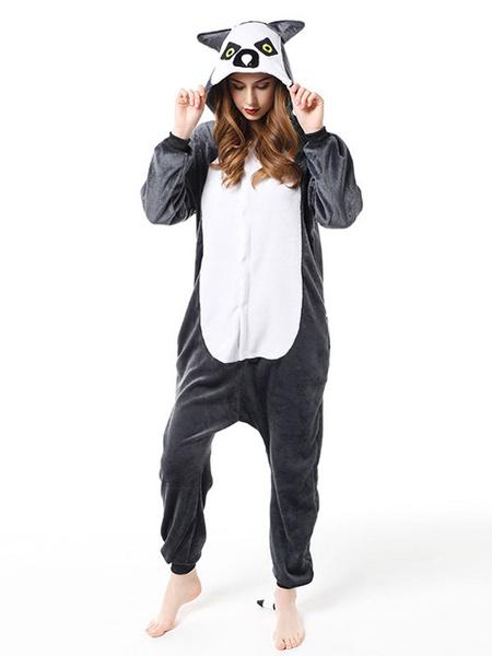 Milanoo Pajamas Kigurumi Owl Onesie Adult Coffee Brown Flannel Jumpsuit Costumes Cosplay Halloween