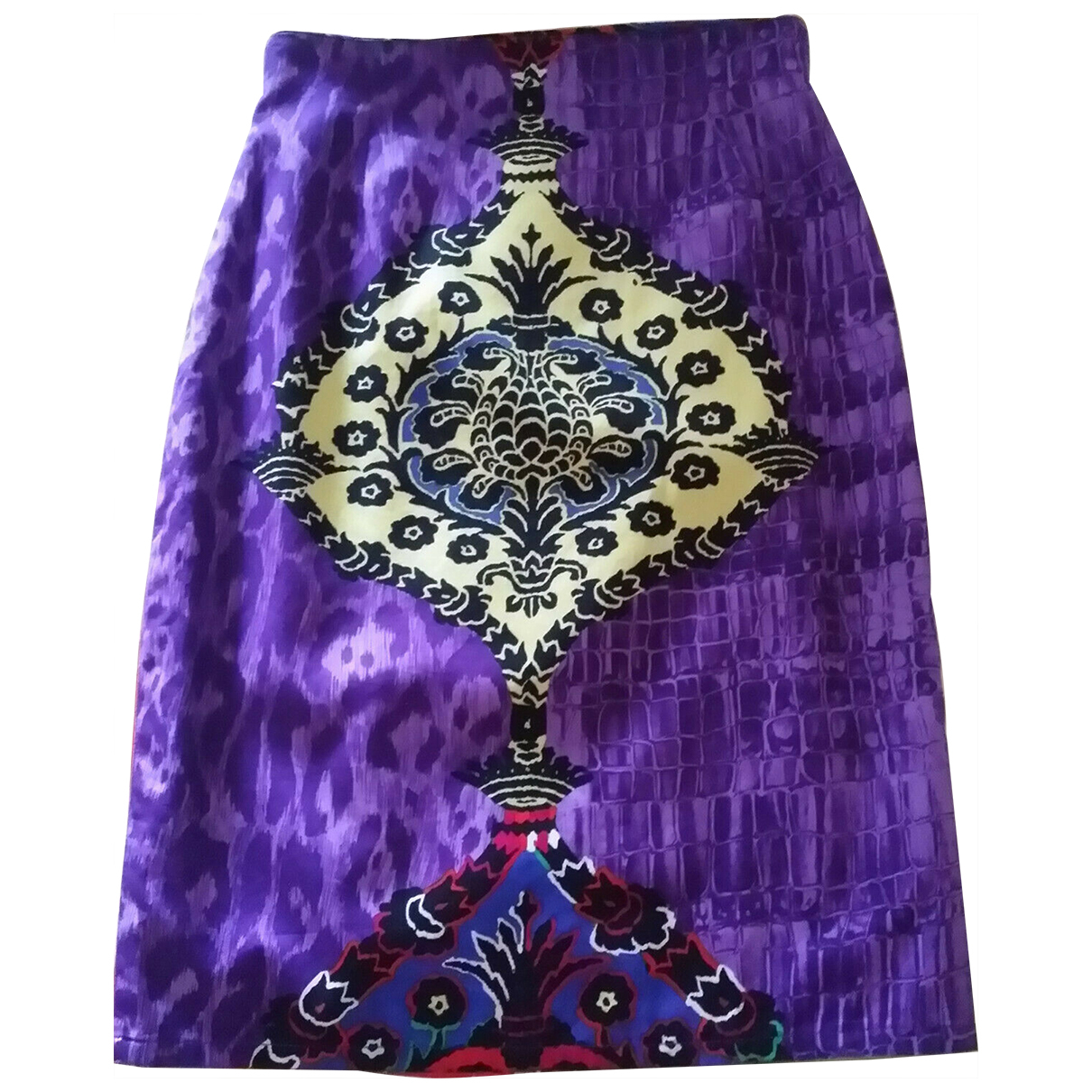 Gianni Versace \N Multicolour Cotton skirt for Women 40 IT