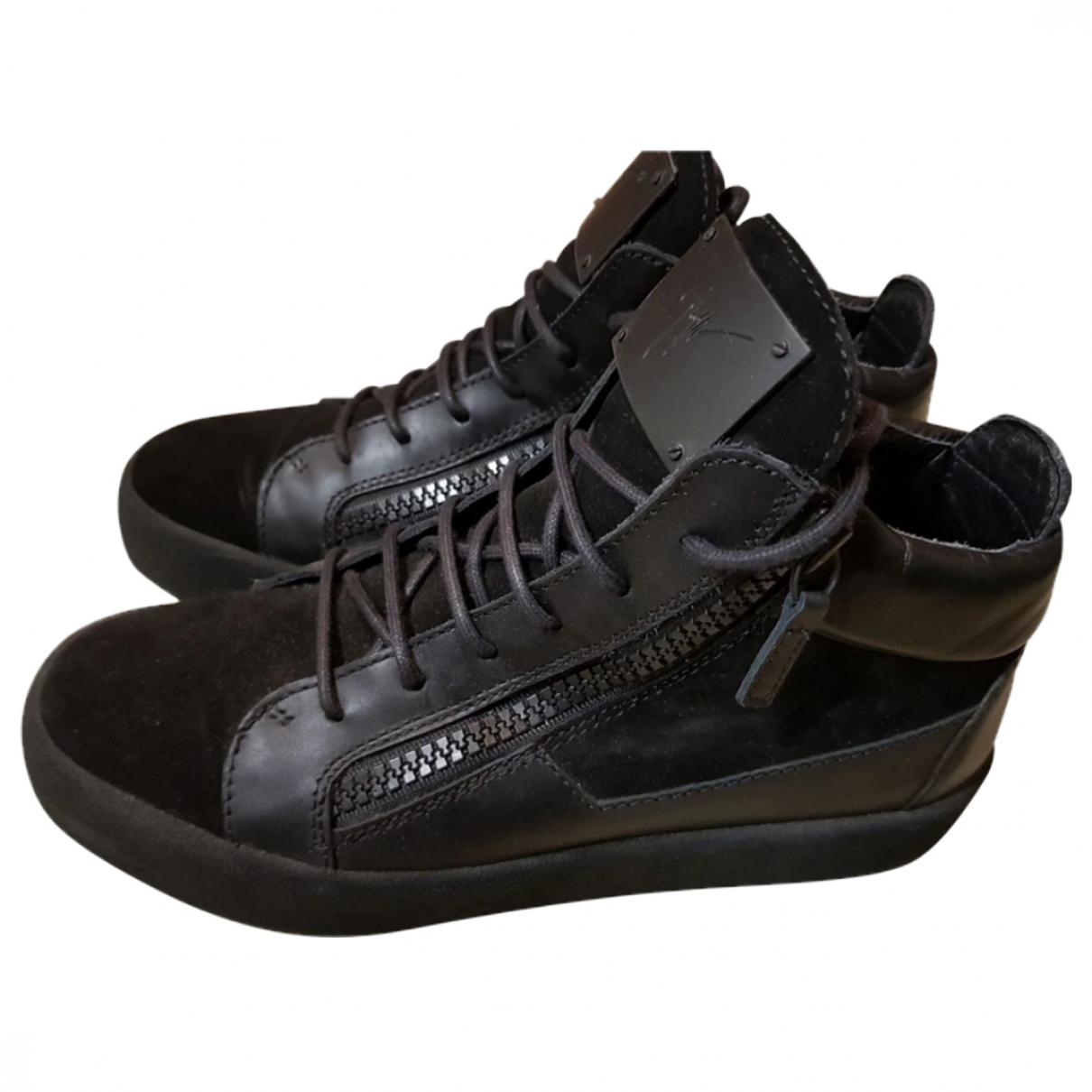 Giuseppe Zanotti \N Black Leather Trainers for Women 40 EU