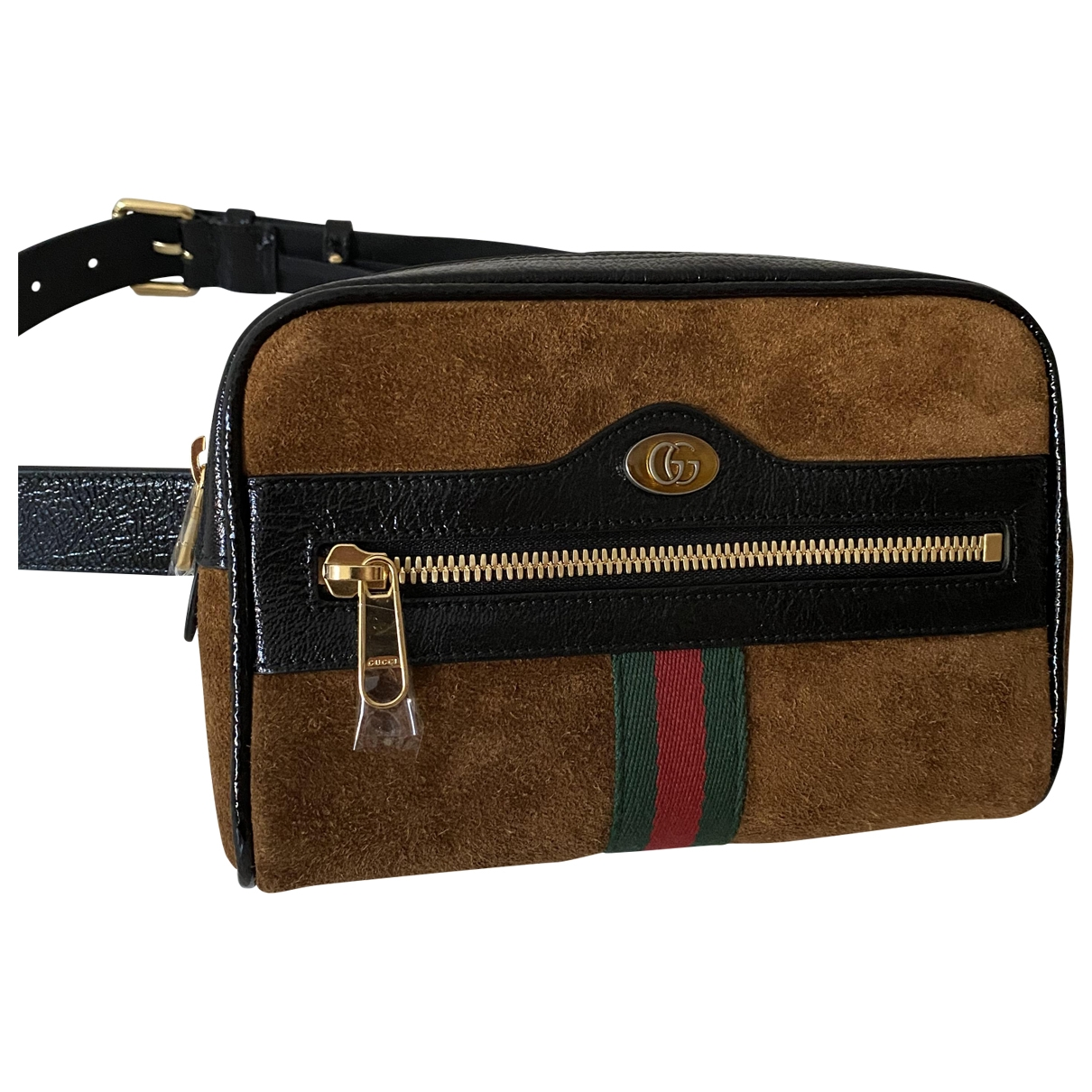 Gucci Ophidia Brown Suede Clutch bag for Women \N