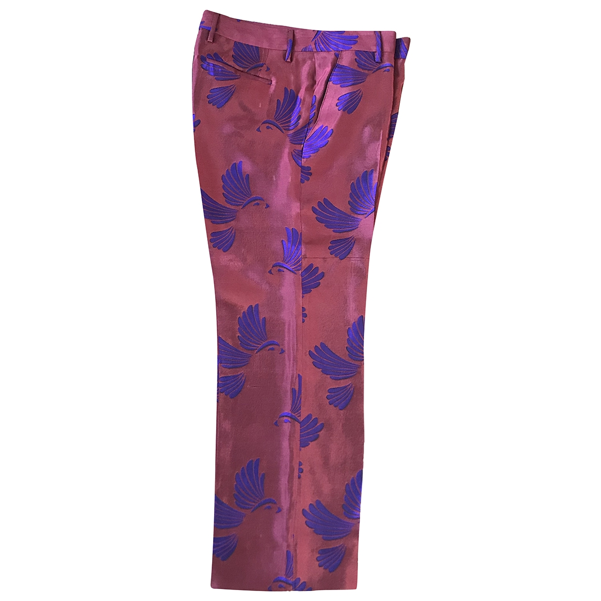 Non Signé / Unsigned \N Red Trousers for Women 40 IT