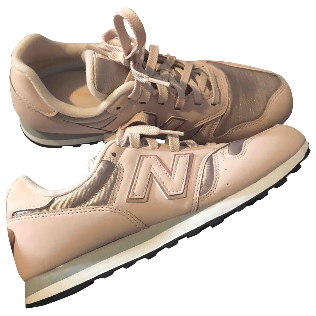 New Balance \N Pink Leather Trainers for Women 40 EU