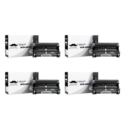 Compatible Brother DR520 Drum Unit by Moustache, 4 Pack