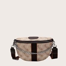 Deer Graphic Satchel Bag