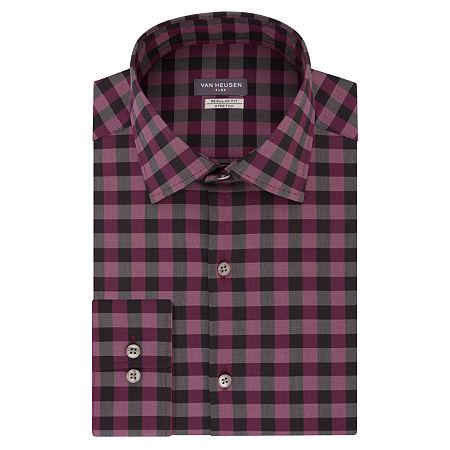 Van Heusen Flex Collar Dress Long Sleeve Shirt - Big & Tall, 18 35-36, Red