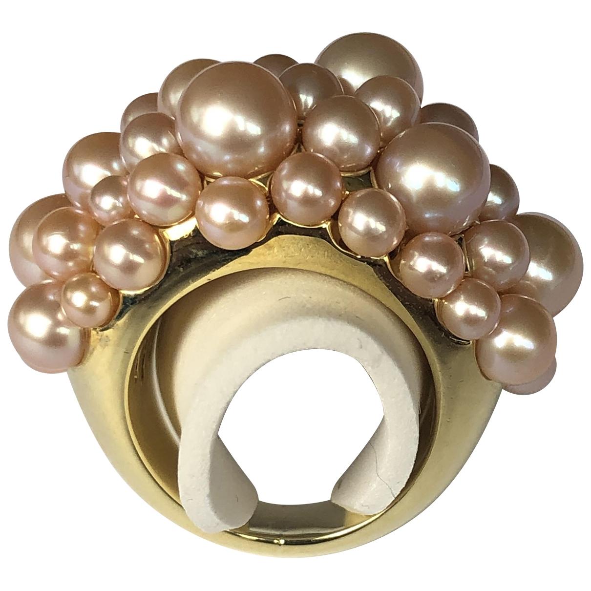 Mimi Milano \N Beige Yellow gold ring for Women \N