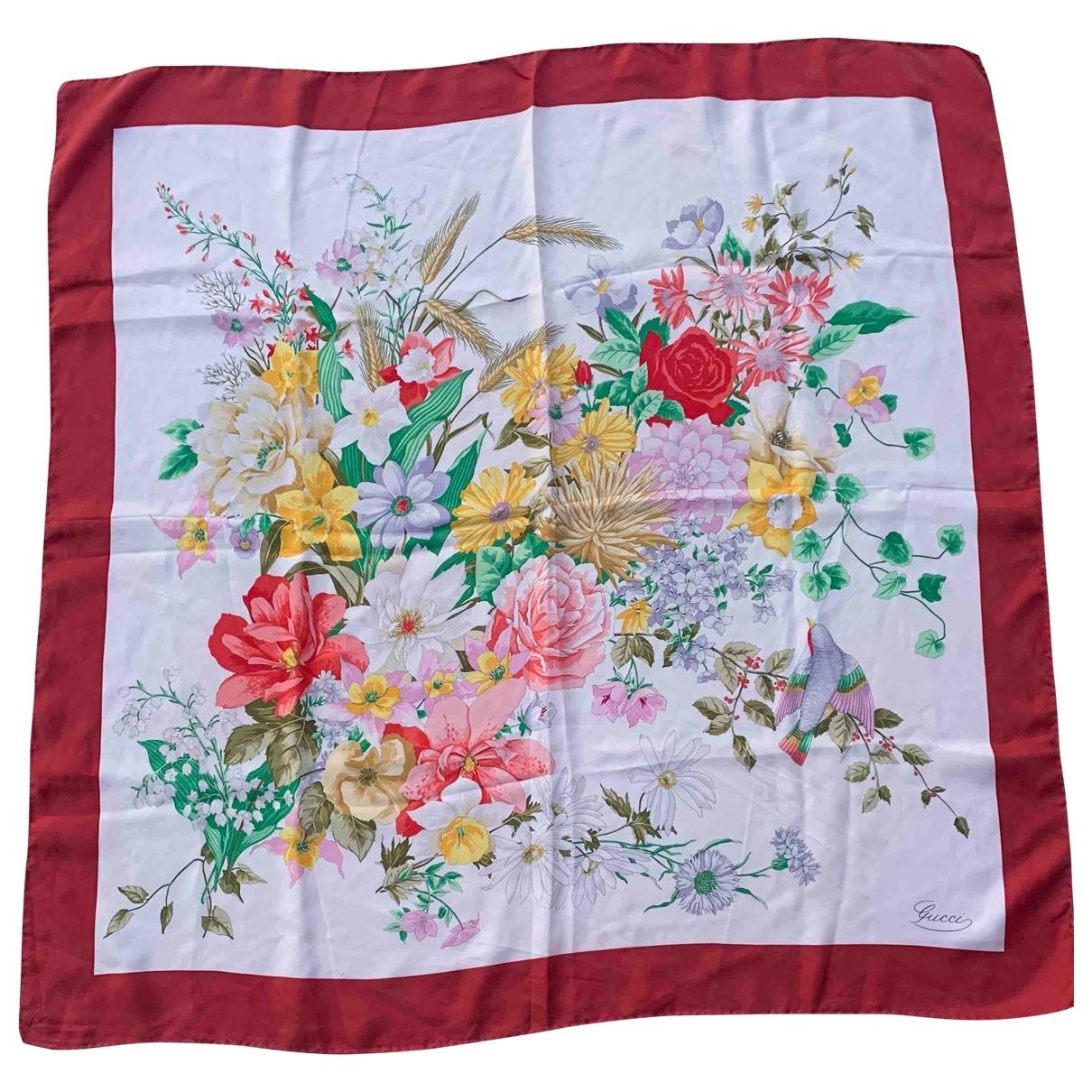 Gucci \N White Silk Silk handkerchief for Women \N