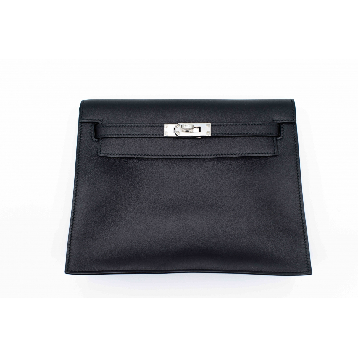 Herm??s Kelly Clutch Black Leather Clutch bag for Women \N