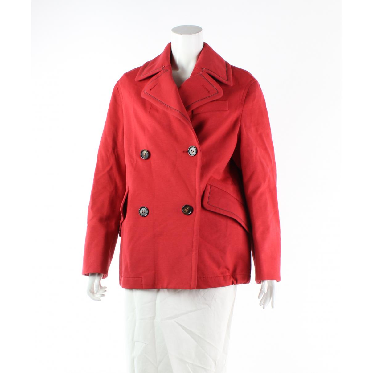 Brunello Cucinelli \N Red Cotton coat for Women 42 FR