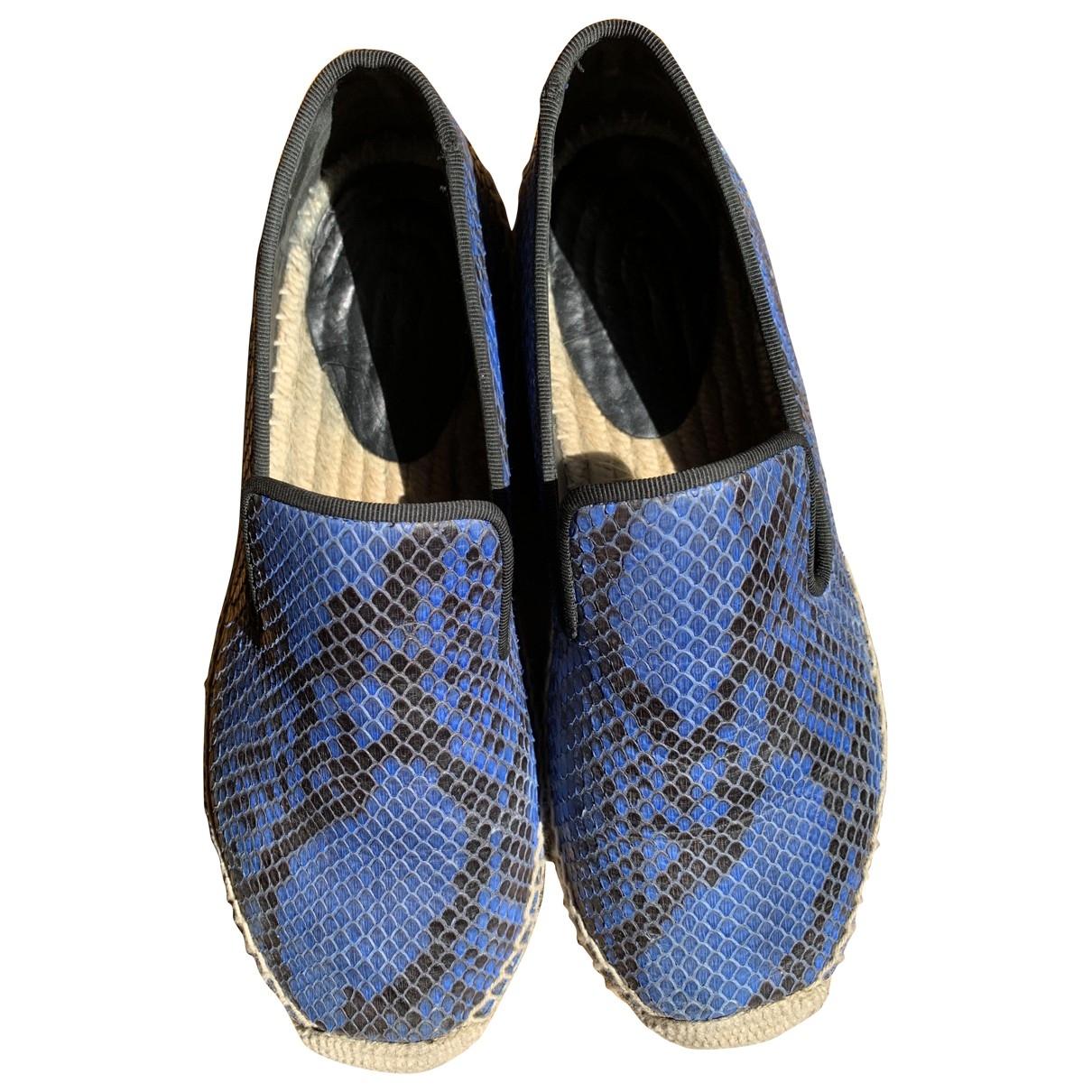 Celine \N Blue Python Espadrilles for Women 38 EU