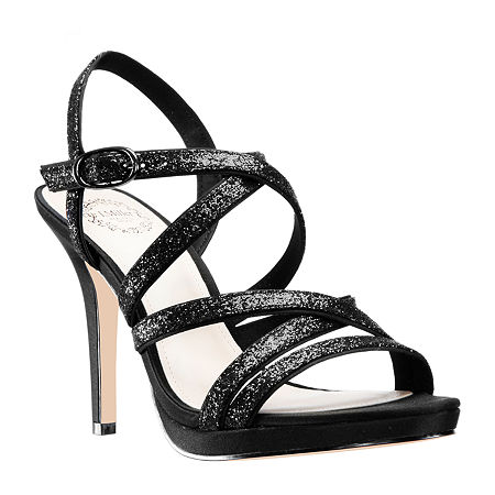 I. Miller Womens Ricole Open Toe Cone Heel Pumps, 5 1/2 Medium, Black