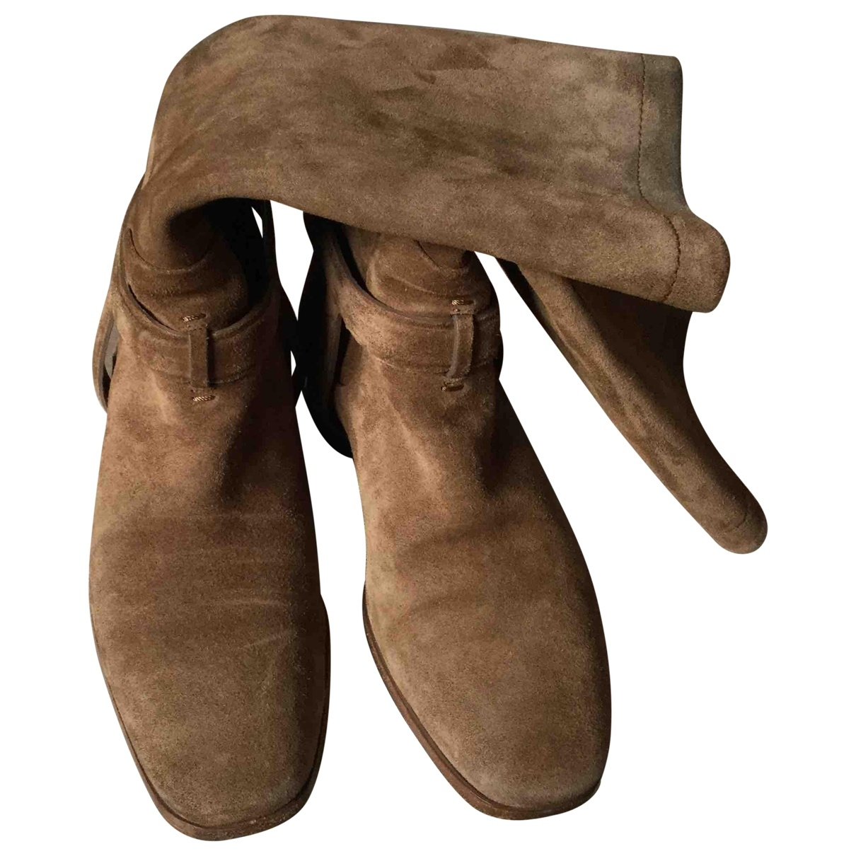 Dior \N Camel Suede Boots for Women 37 EU