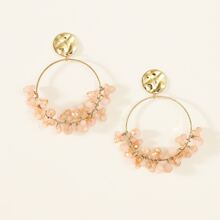 Crystal Decor Ring Drop Earrings