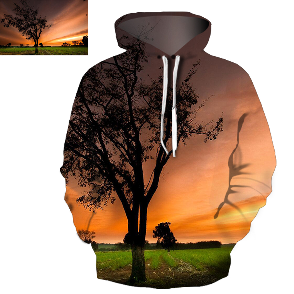 Personalized Unisex Pullover Realistic Kangaroo Pocket 3D Painted Hoodie
