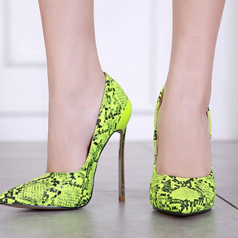 Ericdress Stiletto Heel Serpentine Slip-On Women's Pumps