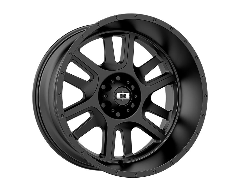Vision Split Satin Black Wheel 22x12 6x139.7 -51