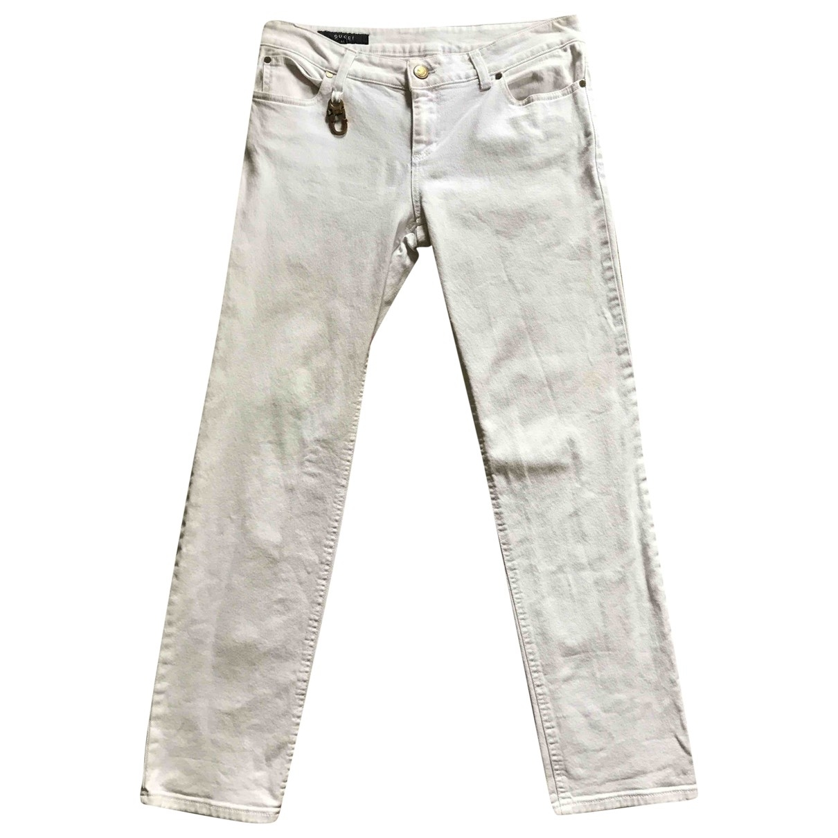 Gucci \N White Cotton Jeans for Women 40 FR