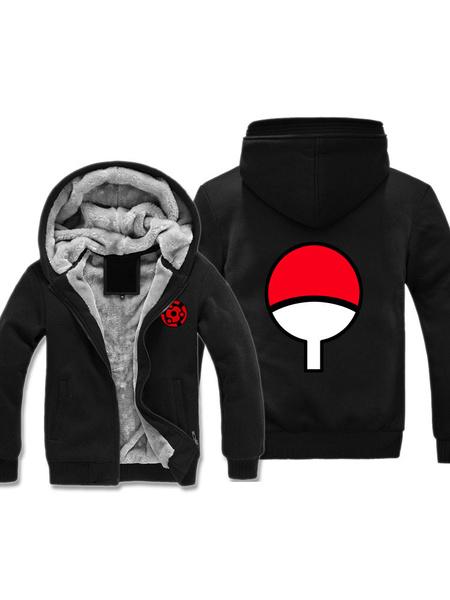 Milanoo Naruto Uchiha Sharingan Logo Halloween Cosplay Hoodie Anime Hoodie