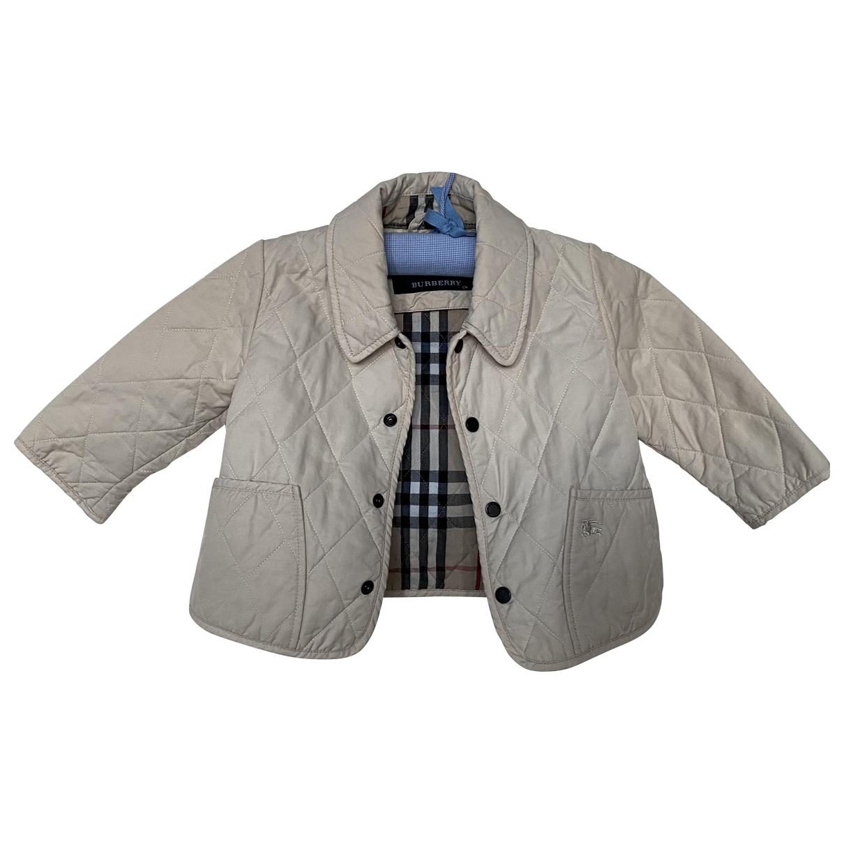 Burberry \N Beige Cotton jacket & coat for Kids 12 months - up to 74cm FR