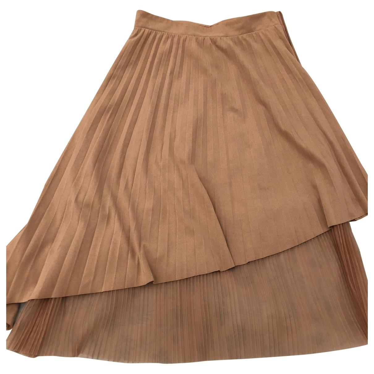 Zara \N Beige Velvet skirt for Women XS International