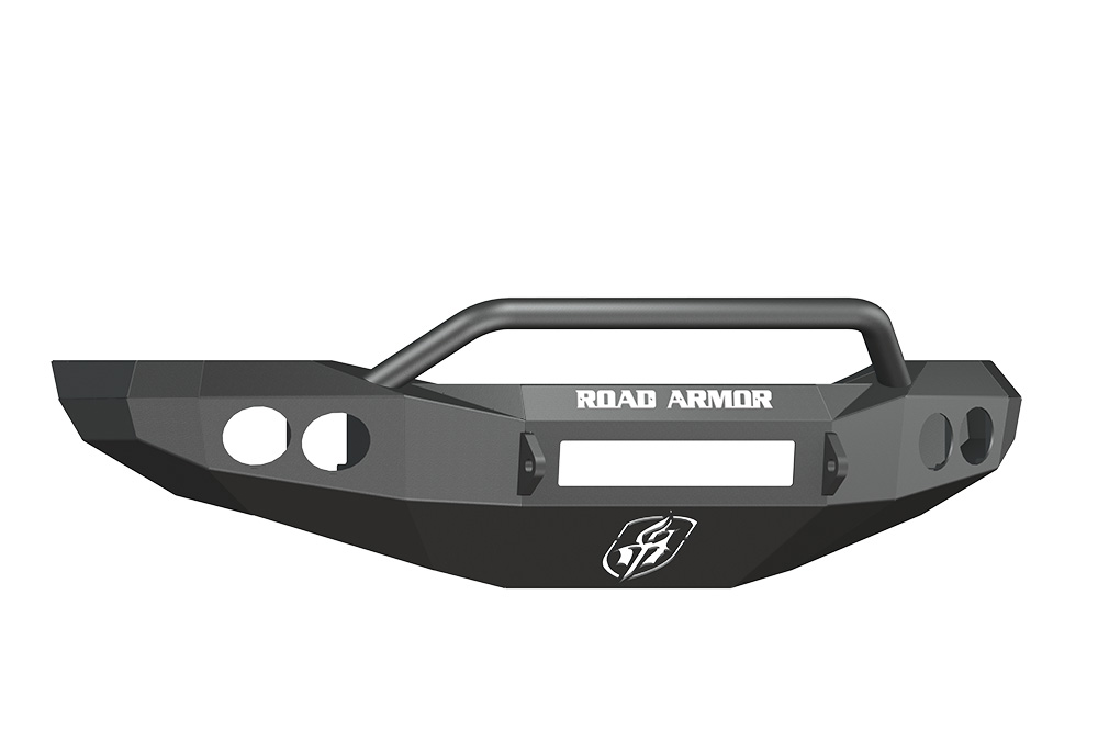 DODGE Front Non-Winch Bumper Round Light Ports 2500,3500,4500,5500 RAM 06-09 BLACK Pre-Runner Guard Road Armor 44064B-NW Stealth Series