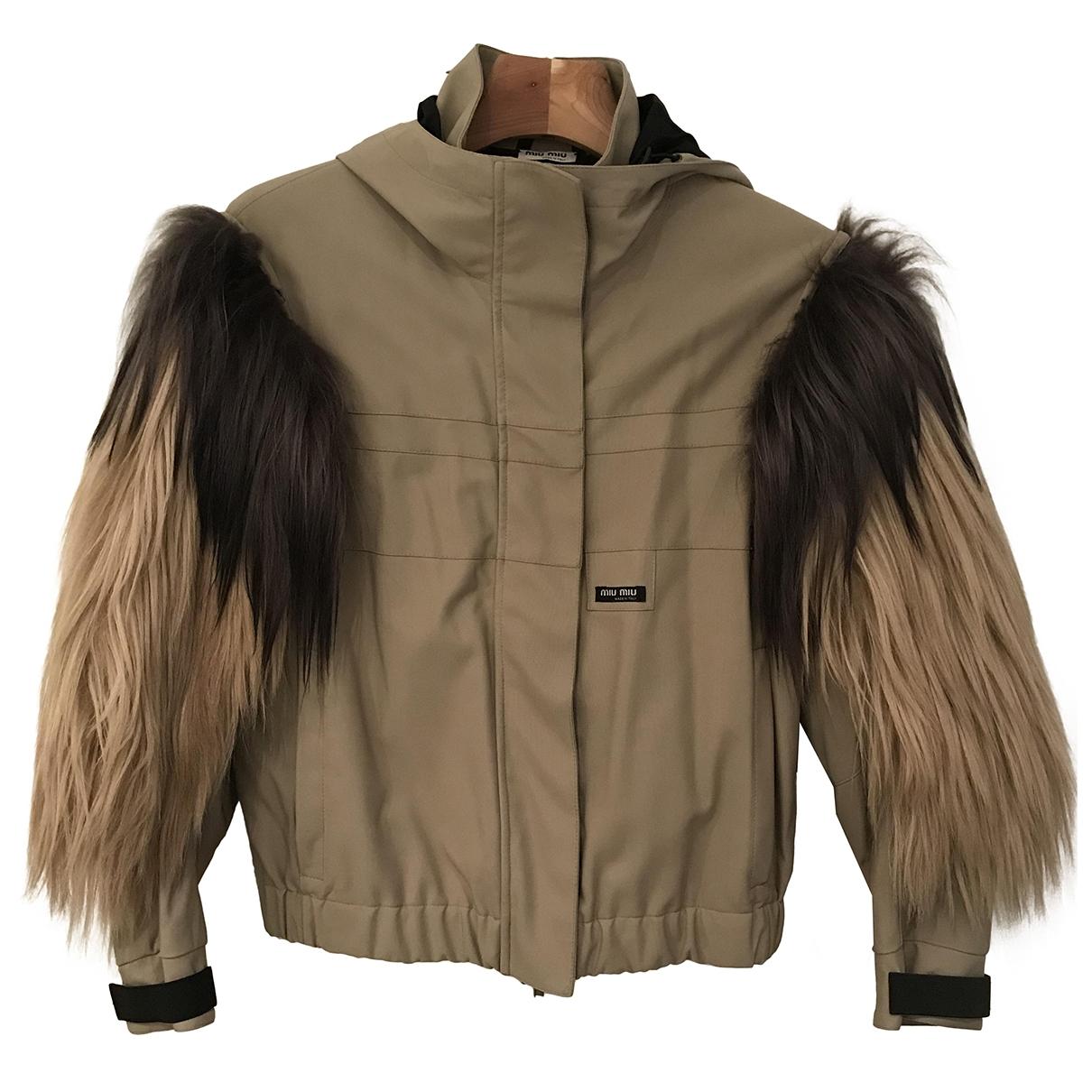 Miu Miu \N Camel Leather jacket for Women 38 FR