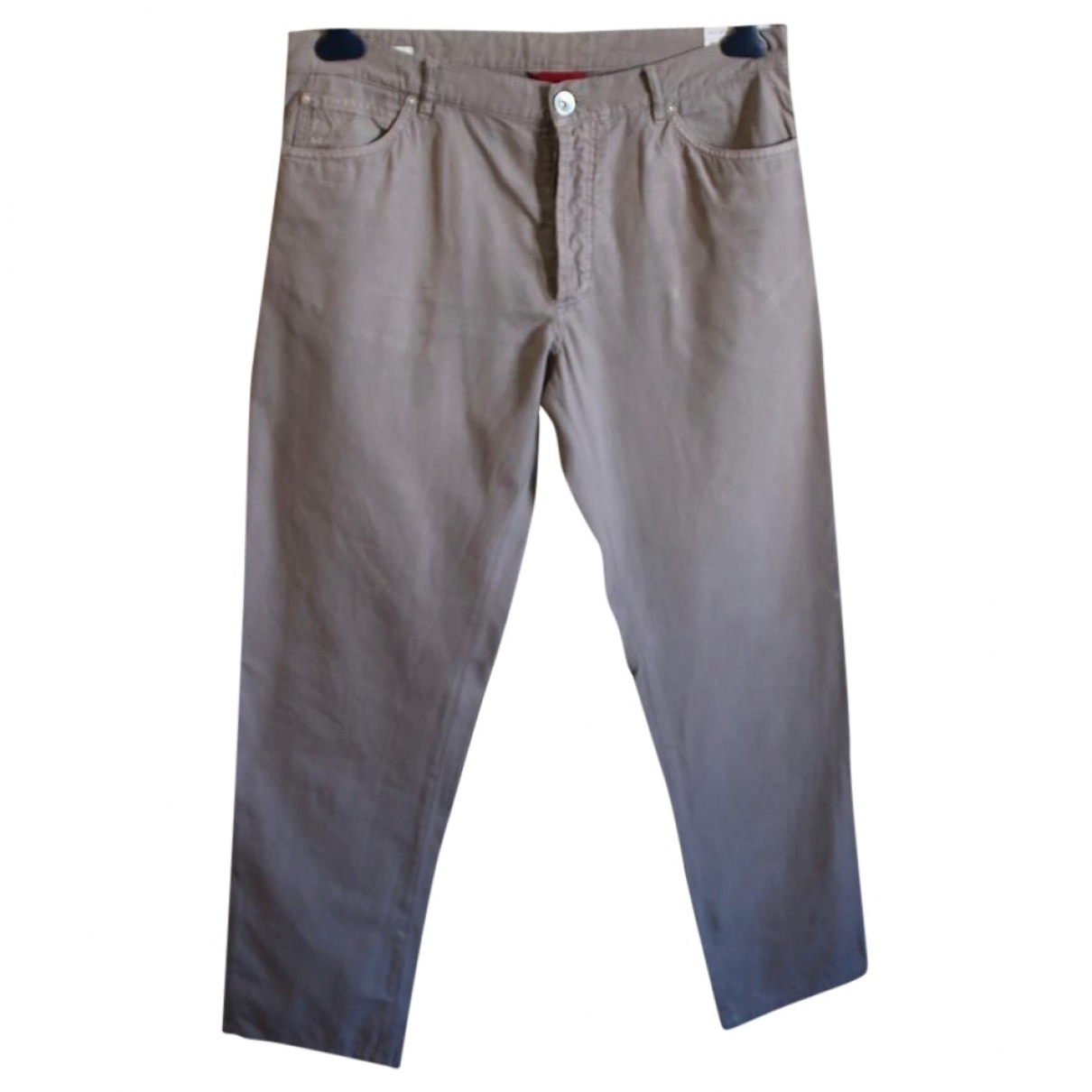 Brunello Cucinelli \N Beige Cotton Trousers for Men 52 IT