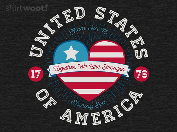 Usa United Hearts T Shirt