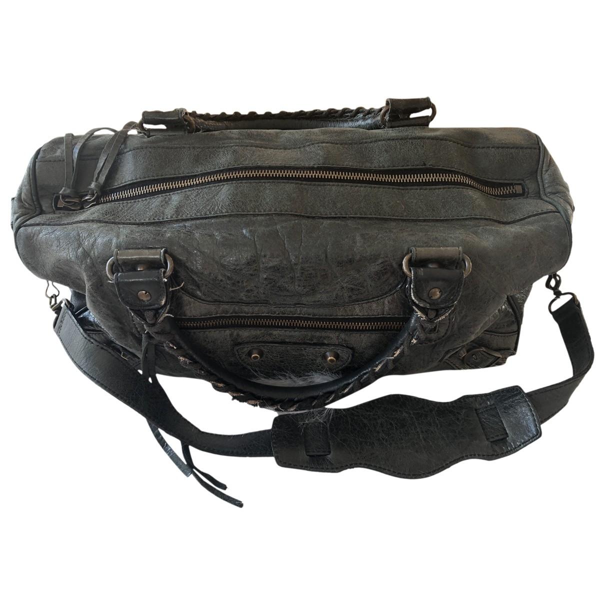 Balenciaga Part Time Green Leather handbag for Women \N