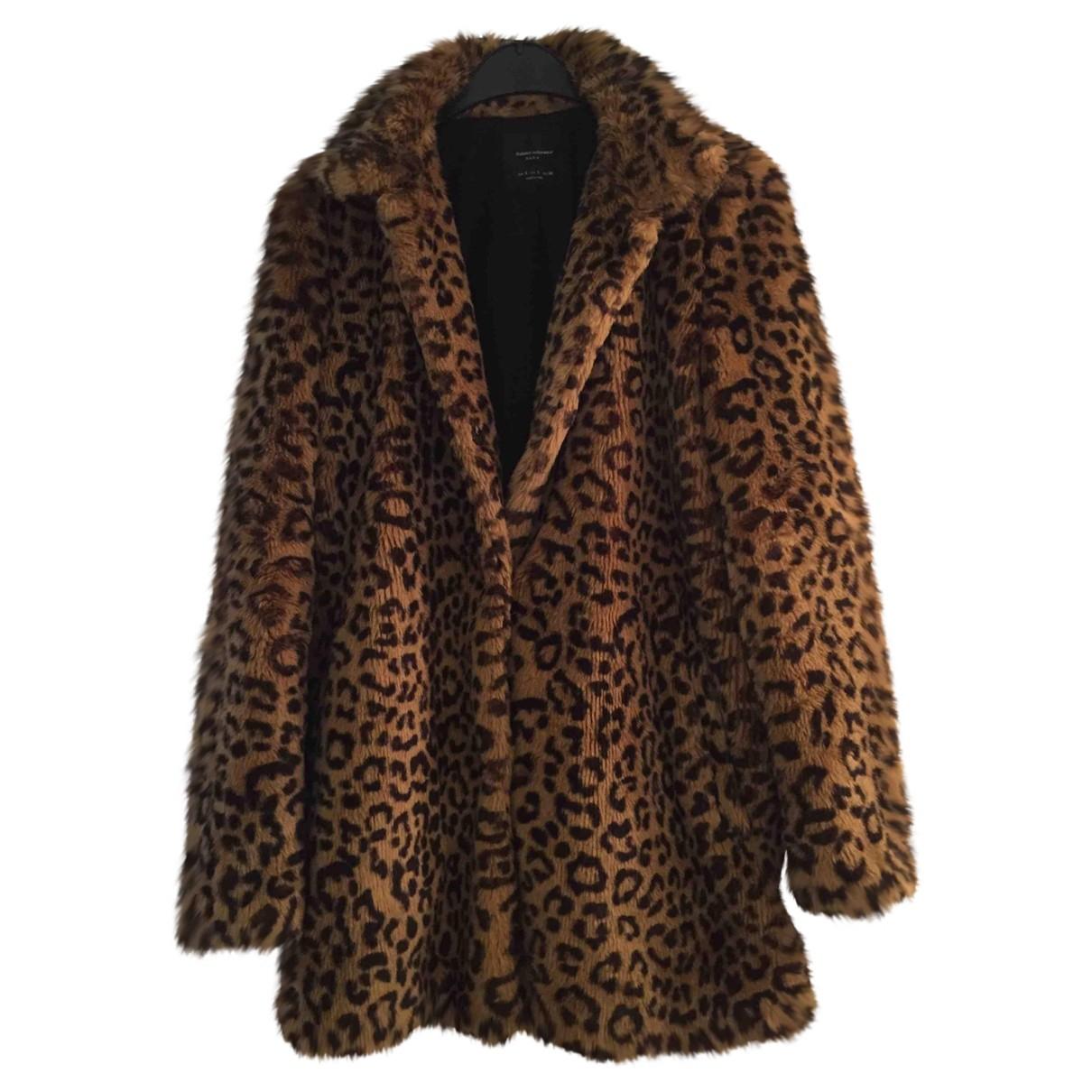 Zara \N Camel Faux fur coat for Women 36 FR
