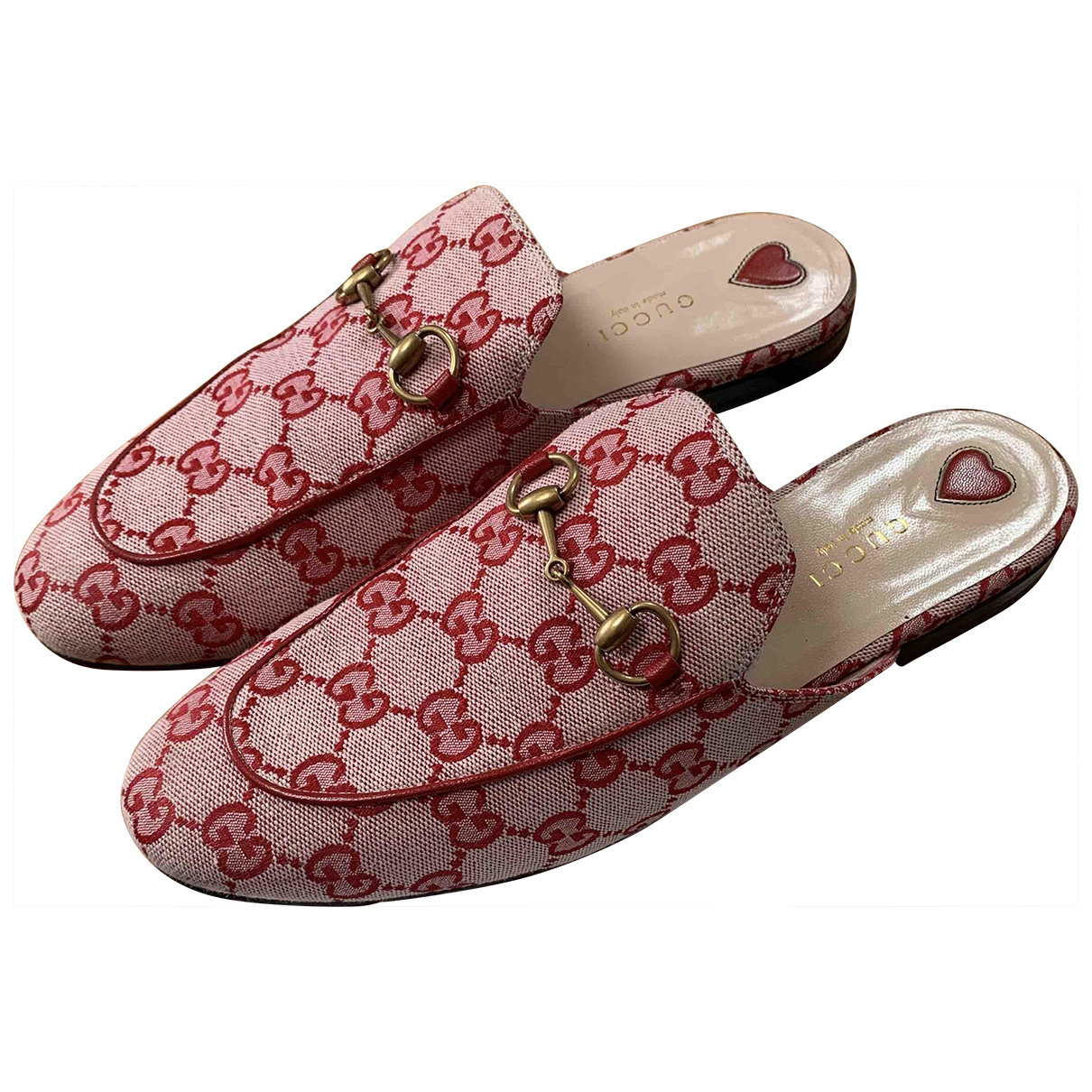 Gucci Princetown Red Cloth Flats for Women 39 IT