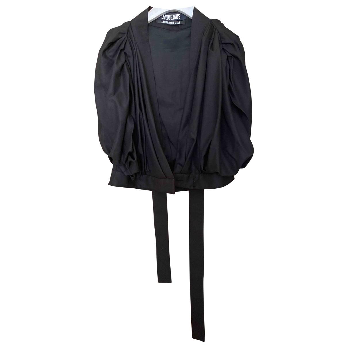 Jacquemus L'Amour d'un Gitan Black Wool  top for Women 40 FR