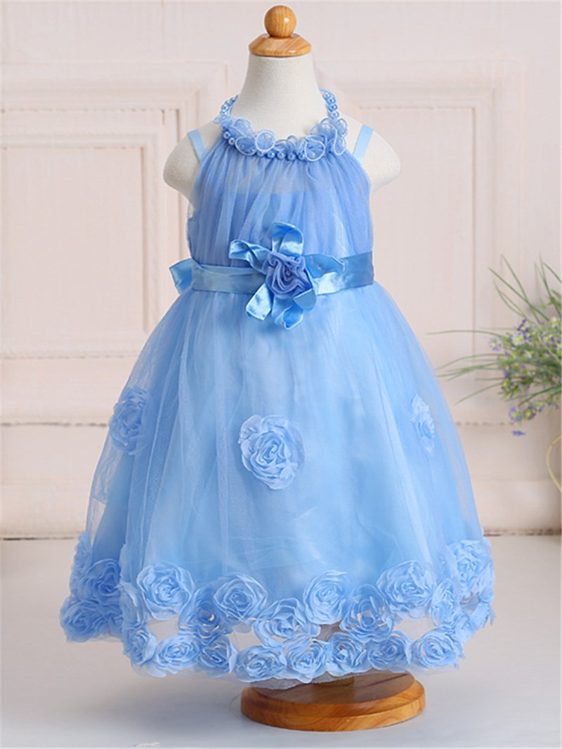 Ericdress Ball Gown Mesh Girls Dress