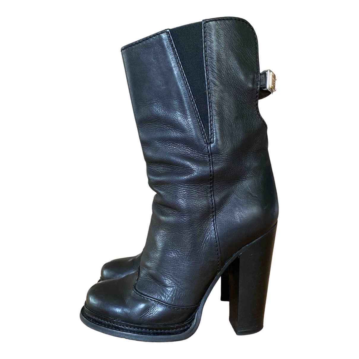 Dolce & Gabbana \N Black Leather Boots for Women 38 EU