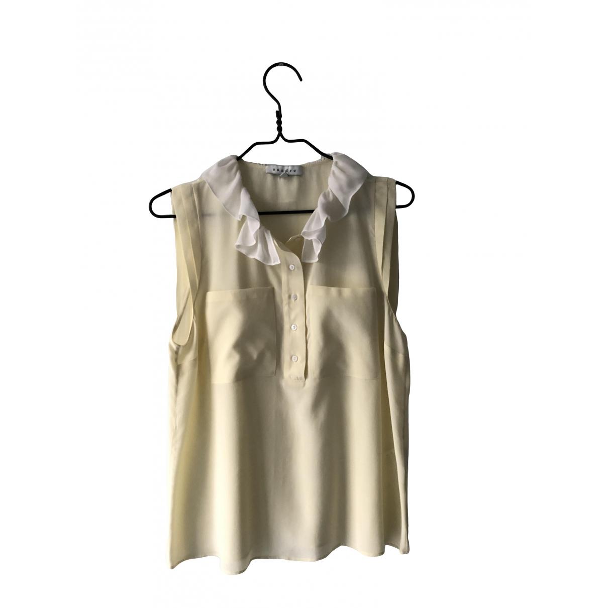 Sandro \N Yellow Silk  top for Women 38 FR