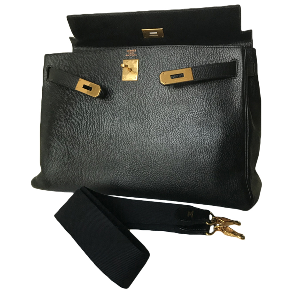 Hermès Kelly 40 Black Leather handbag for Women \N