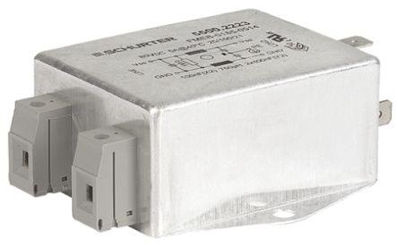 Schurter , FMEB 30A 80 V dc, Screw Mount RFI Filter, Screw, Tab