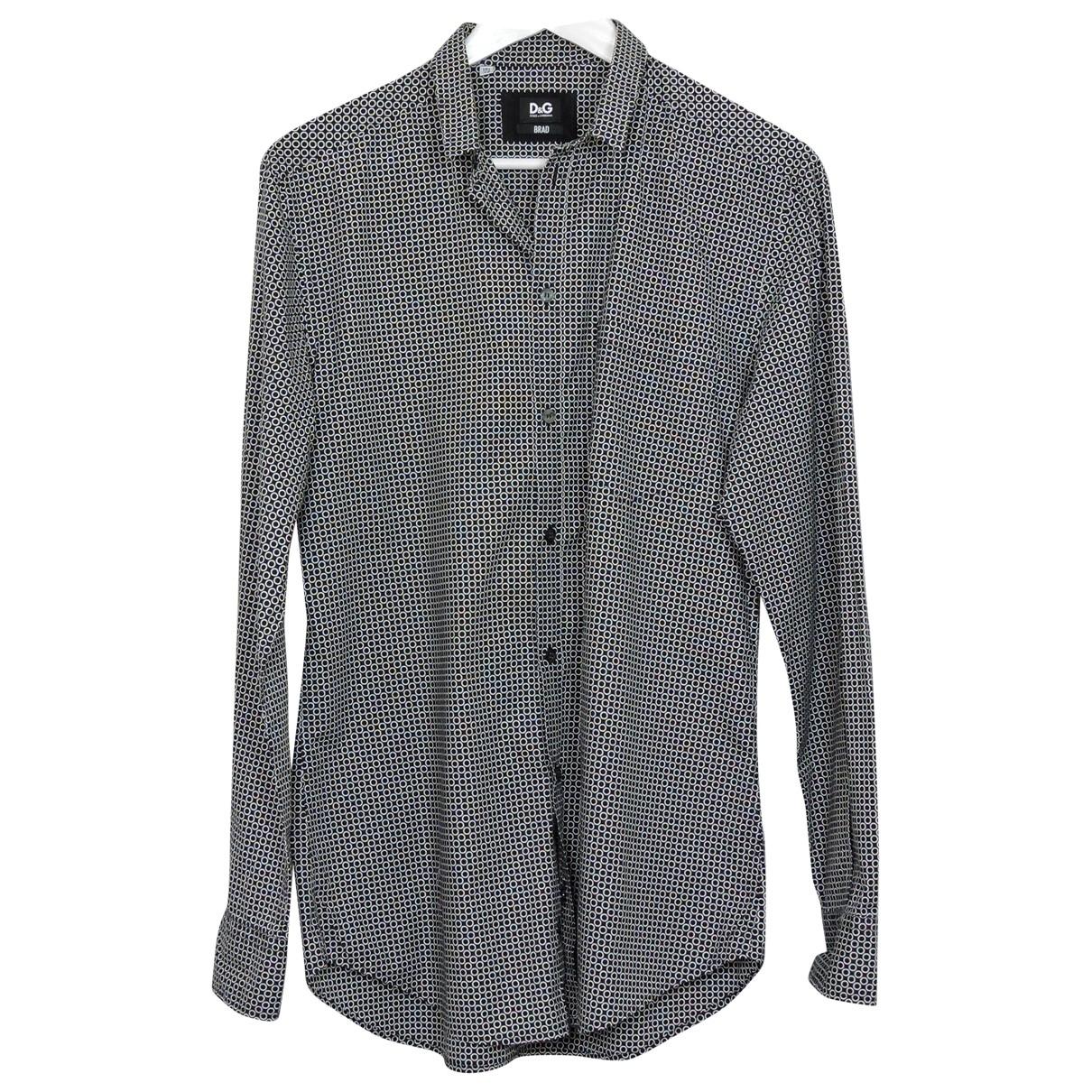 D&g \N Black Cotton Shirts for Men 42 EU (tour de cou / collar)