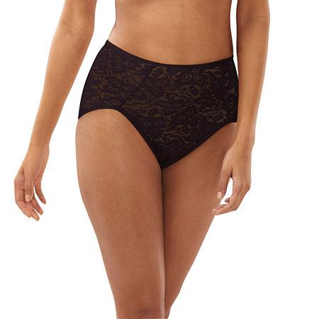 Bali Shapewear Lace 'N Smooth Brief - 8L14, Medium , Black