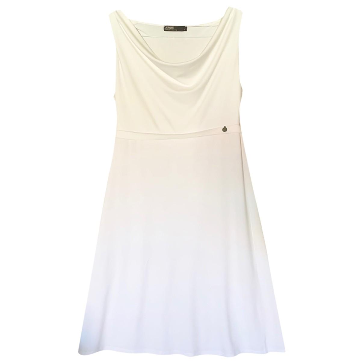 Non Signé / Unsigned \N White Cotton - elasthane dress for Women S International