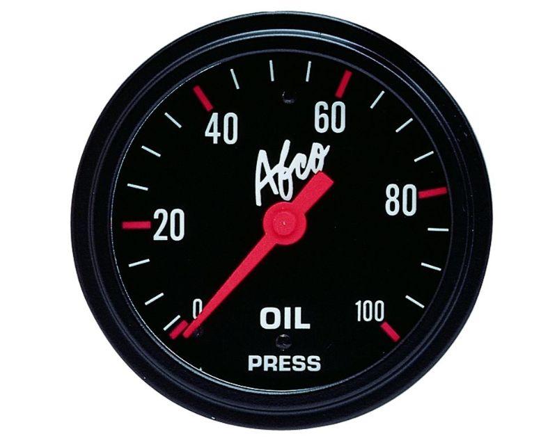 AFCO 85241 100 Psi Oil Pressure Gauge 2 5/8
