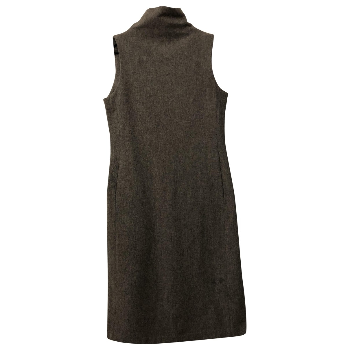 Non Signé / Unsigned \N Grey Wool dress for Women 38 FR