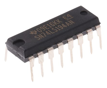 Texas Instruments SN74LS194AN 4-stage Shift Register, Serial/Parallel to Parallel, Bi-Directional, 16-Pin PDIP